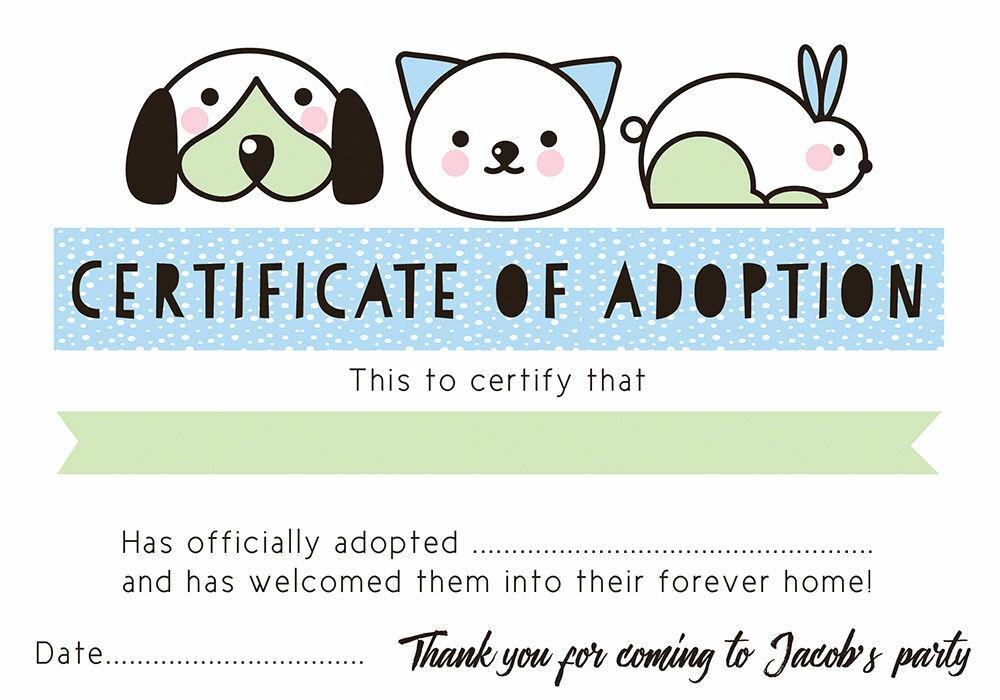Adoption Certificate Template Datariouruguay