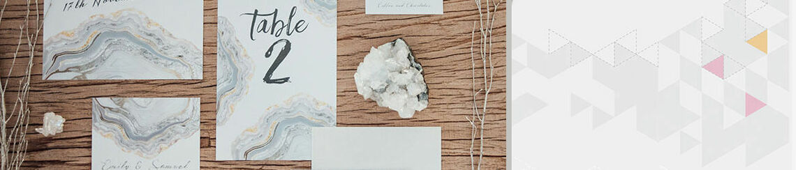 Silver Geodes Wedding Stationery