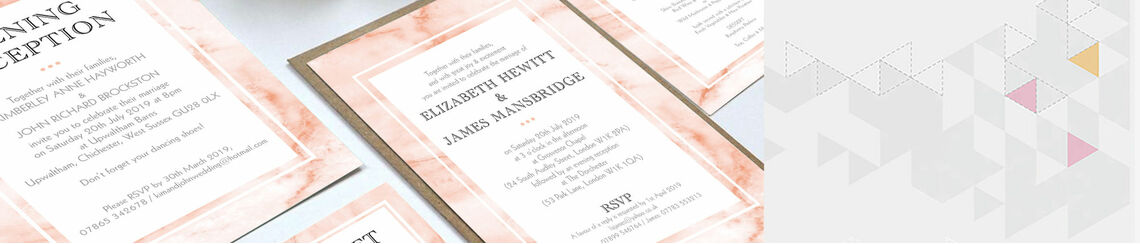 Blush Marble Wedding Stationery