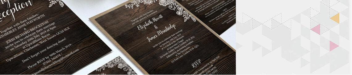 Rustic Wood & Lace Wedding Stationery