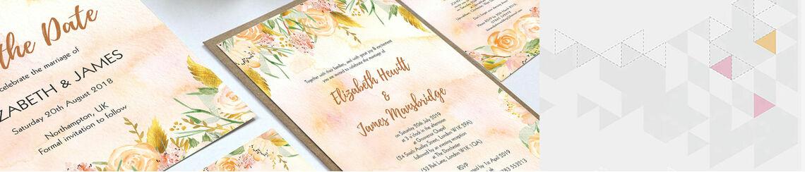 Gold Floral Wedding Stationery