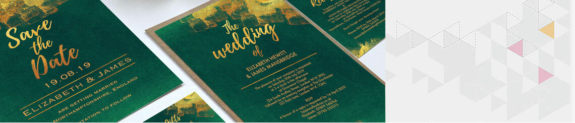Emerald & Gold Wedding Stationery