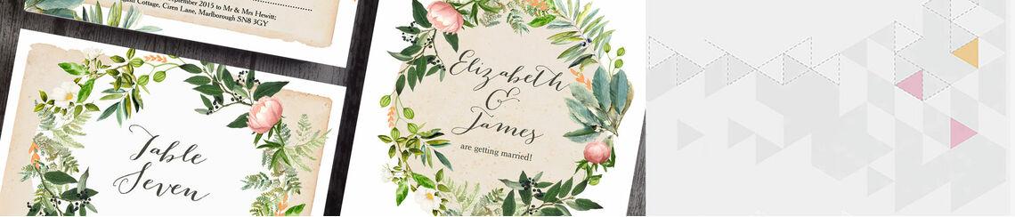 Flora Wreath Wedding Stationery