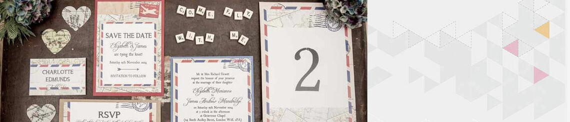 Vintage Airmail Wedding Stationery