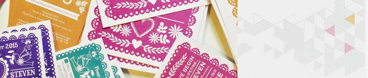 Papel Picado Wedding Stationery