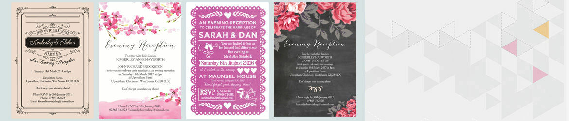 Evening Reception Invitations