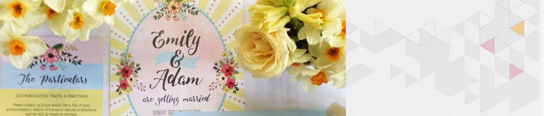 Spring Pastel Wedding Stationery
