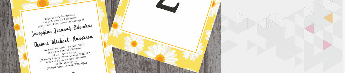 Spring Daisies Wedding Stationery