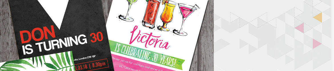 30th Birthday Invitations