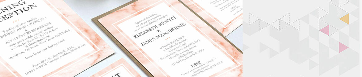 Blush Marble Wedding Stationery