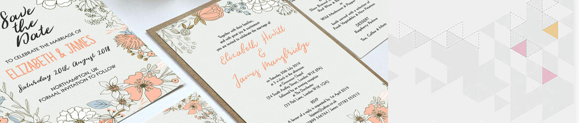 Wild Flowers Wedding Stationery