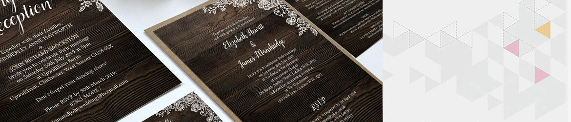 Rustic Wood & Lace Wedding Stationery