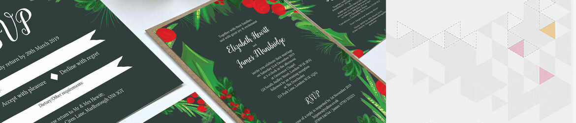 Winter Berries Wedding Stationery
