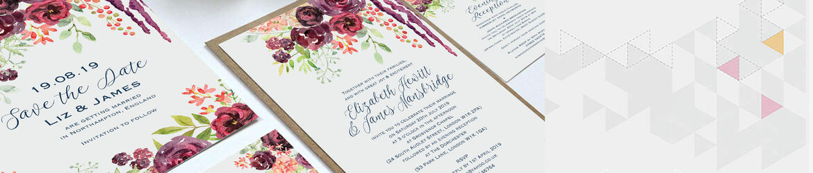 Burgundy Floral Wedding Stationery