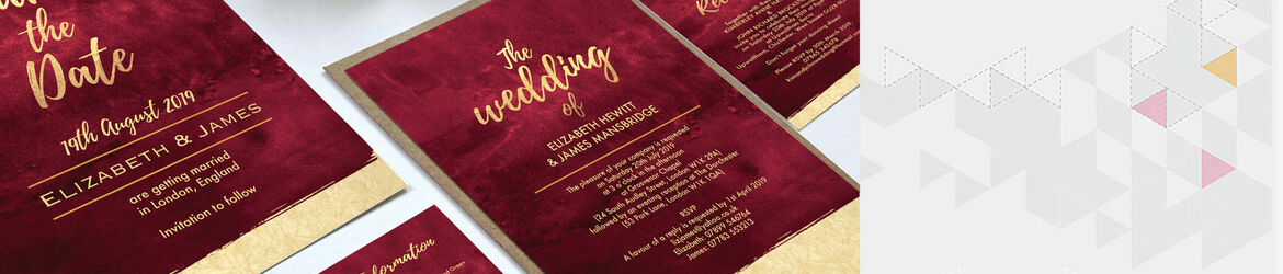 Burgundy & Gold Wedding Stationery