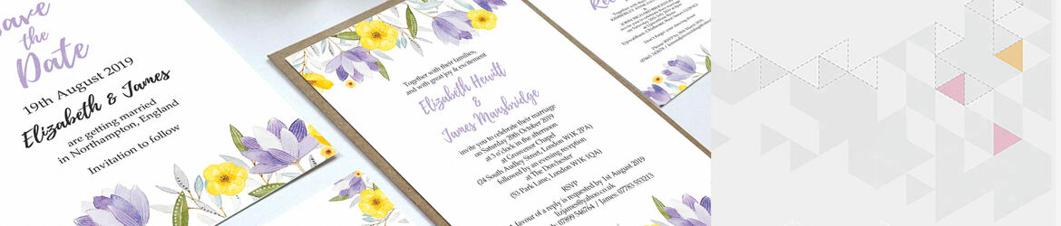 Lilac & Lemon Wedding Stationery