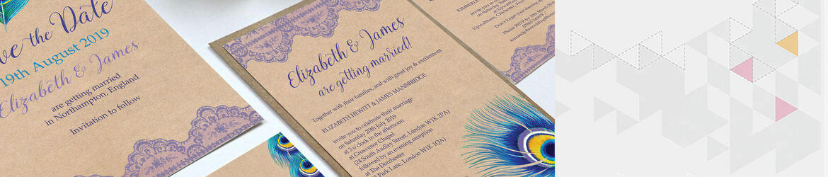 Rustic Peacock Wedding Stationery