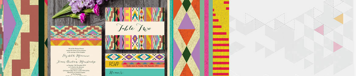 Aztec Ikat Wedding Stationery