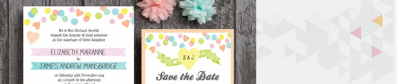 Candy Confetti Wedding Stationery