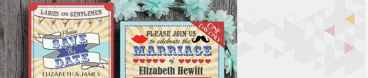 Circus Extravaganza Wedding Stationery