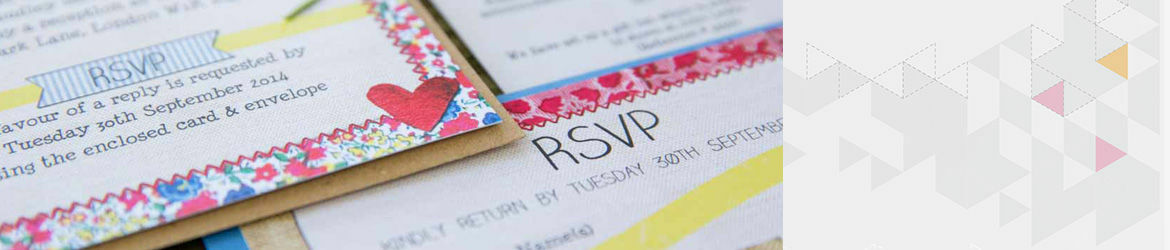 Country Textiles Wedding Stationery