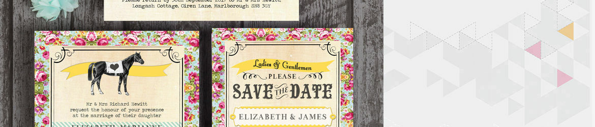 Day at the Races Wedding Stationery