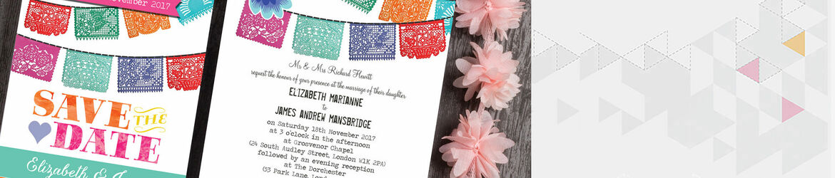 Mexican Fiesta Wedding Stationery