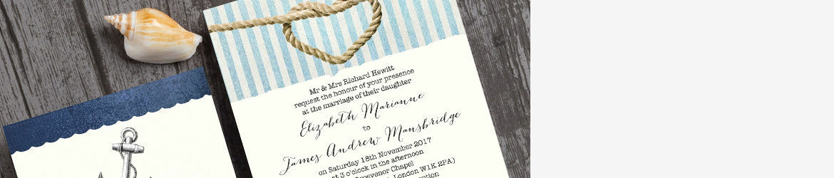 Nautical Knot Wedding Stationery