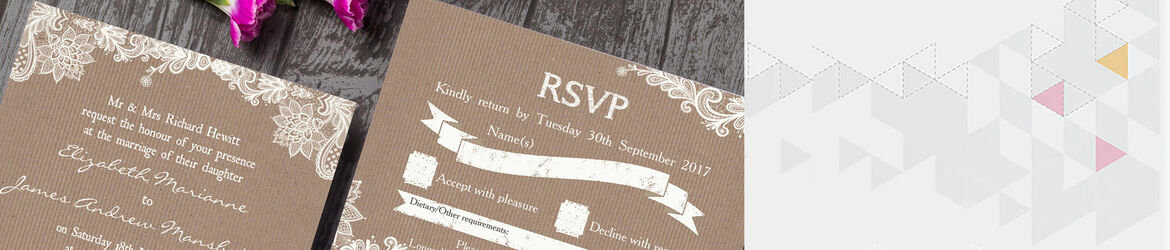 Rustic Lace Wedding Stationery