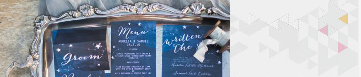 Midnight Stars Wedding Stationery