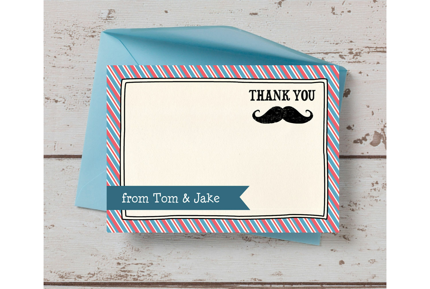 graphic relating to Printable Man Card called Minimal Guy/ Moustache Themed Thank Oneself Card