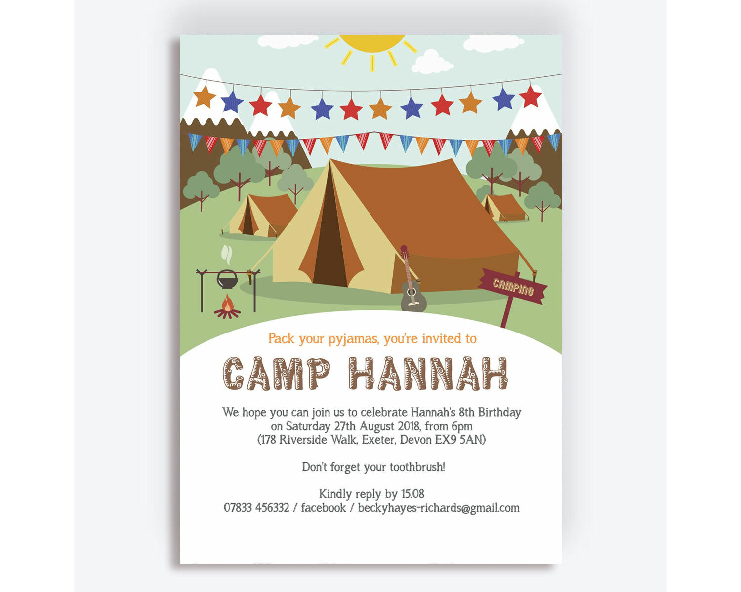 invitation card Personalised tent fold /'Will you be my Flower Girl/'