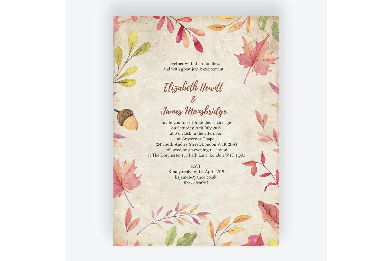 Autumn All Family No Seating Plan Wedding Sign Print