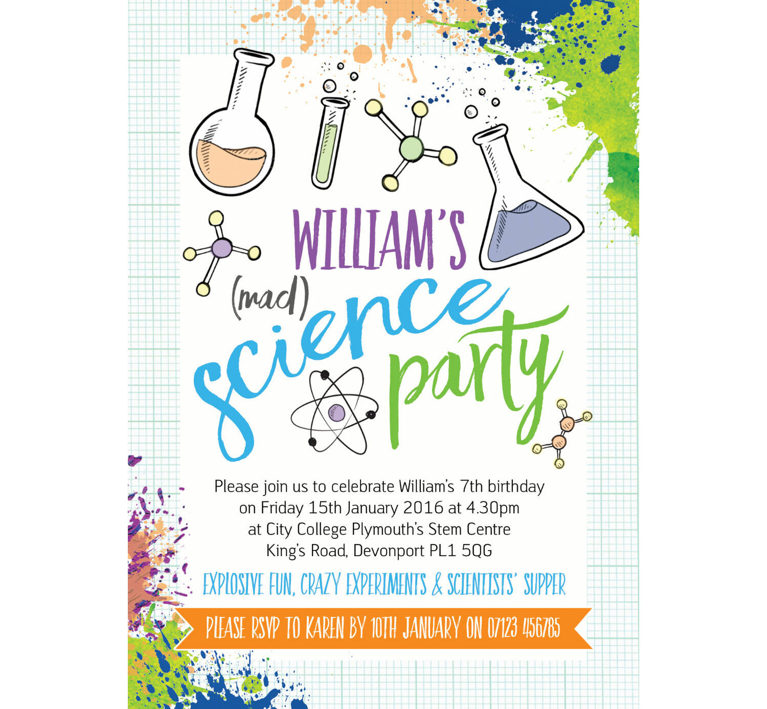 graphic relating to Printable Mad Science Sign called Insane Science Occasion Invitation