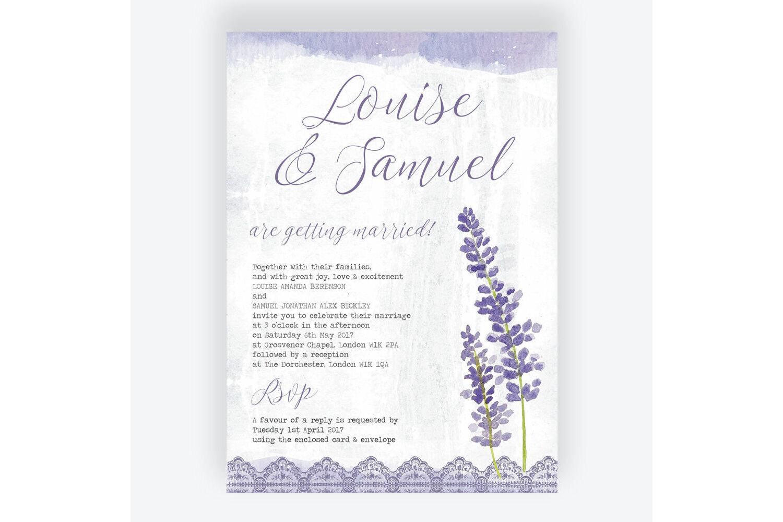 Lilac Lavender Wedding Invitation