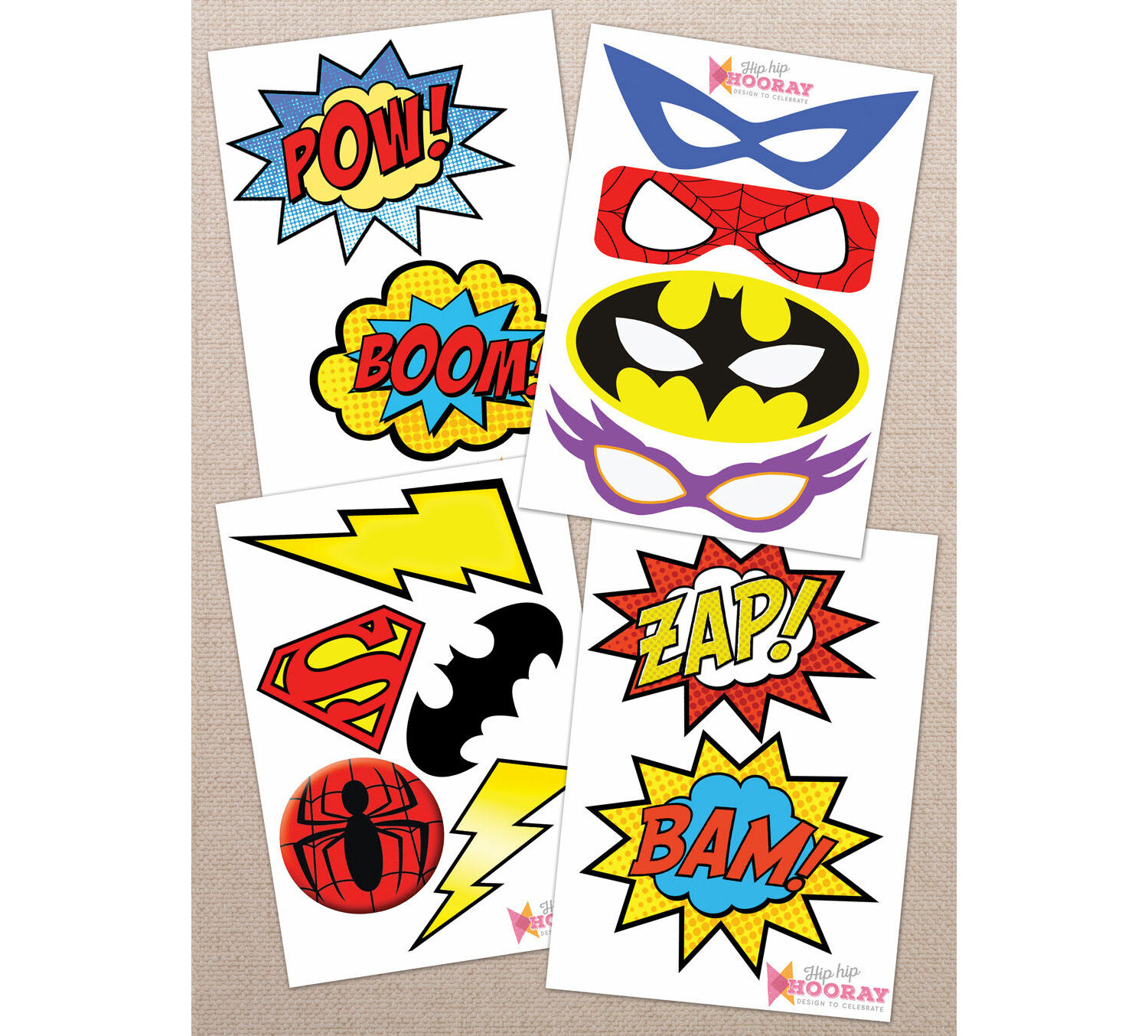 photograph regarding Free Printable Superhero Photo Booth Props referred to as Printable Superhero Image Booth Props