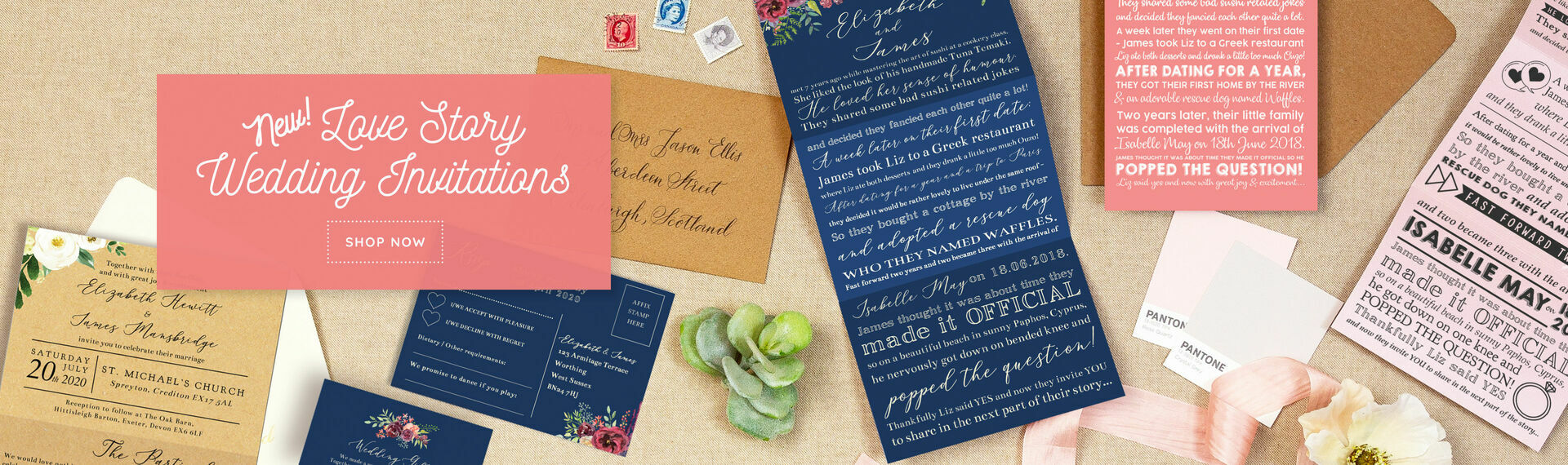 Love Story Wedding Invitations
