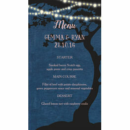 Enchanted Fairy Lights Wedding Menu Card