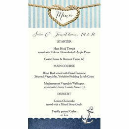Nautical Knot Wedding Menu Card