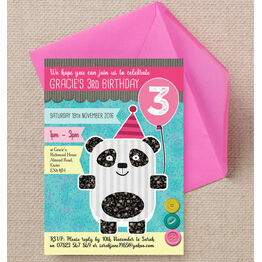 Panda Party Birthday Party Invitation
