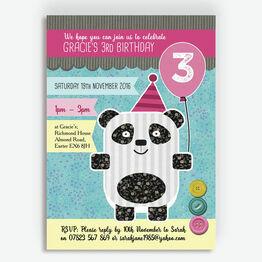 Panda Party Birthday Party Invitation