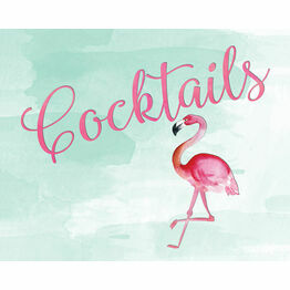 Flamingo Fiesta Wedding Sign - Cocktails