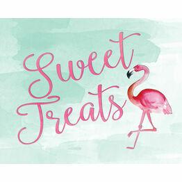 Flamingo Fiesta Wedding Sign - Sweet Treats