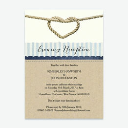 Nautical Knot Evening Reception Invitation