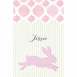 Pastel Bunny Name Cards - Set of 9