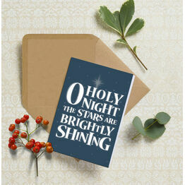 O Holy Night Typography Christmas Card
