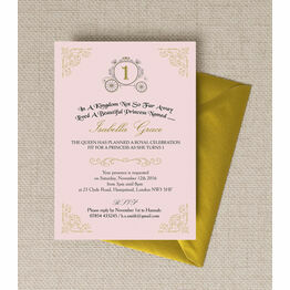 Enchanted Pink & Gold Princess Party Invitation