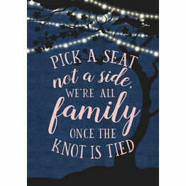 Enchanted Fairy Lights Pick a Seat Not a Side Poster