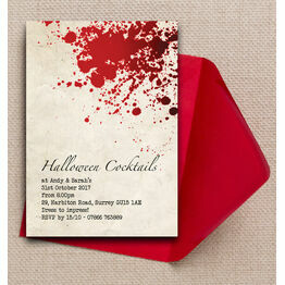 Vintage Blood Personalised Halloween Party Invitation