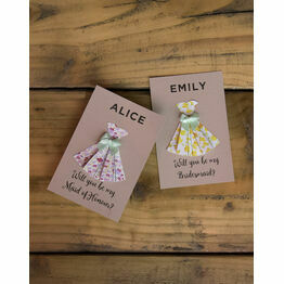 Handmade Origami Printable 'Be My Bridesmaid' Cards